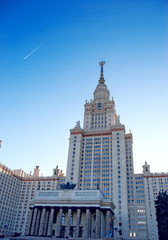 Moscow State University main building on the Sparrow Hills