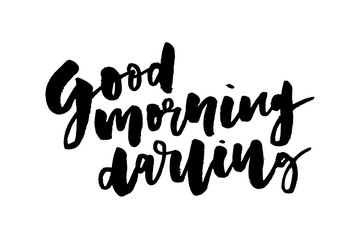 slogan Good morning phrase graphic vector Print Fashion lettering calligraphy