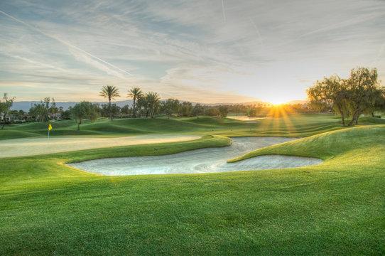 Golfcourse Sunrise