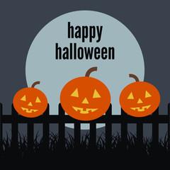 Happy Halloween Pumpkin on the fence