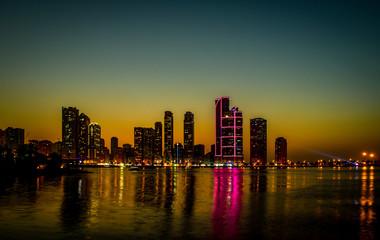 skyline in Sharjah