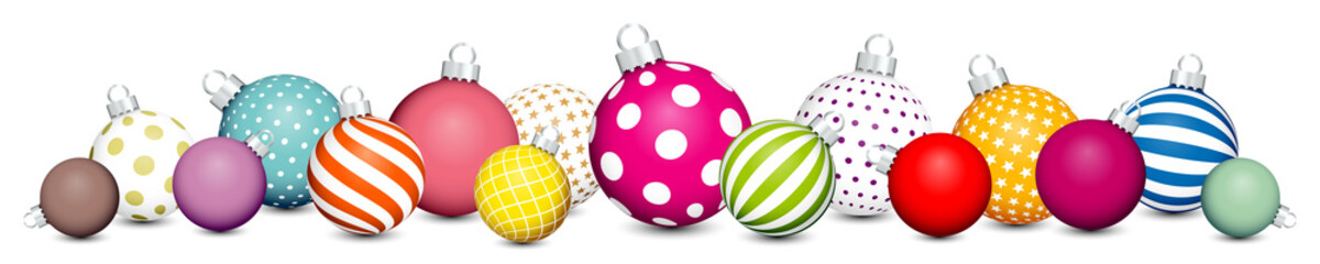 Banner Christmas Balls Pattern Color/White/Silver