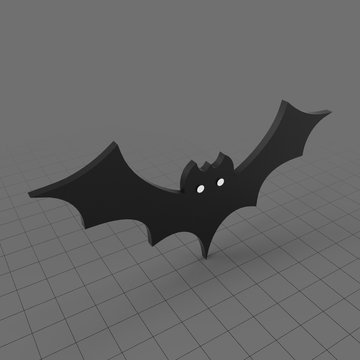 Stylized bat flying