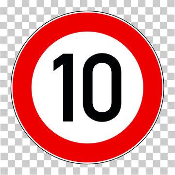 Verkehrsschild 10 Km/h