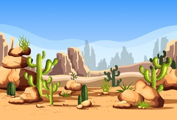 Desert scenery or american canyon landscape