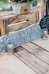 Window sign wedding decoration