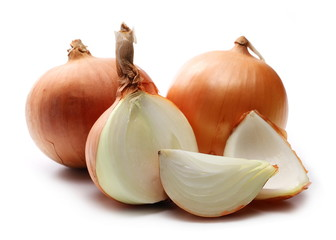 onions slice isolated on white background