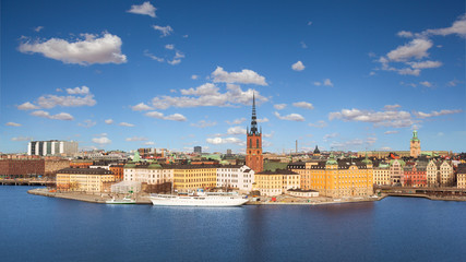 The old city (Gamla Stan) on a beautiful sunny day, Stockholm, Sweden