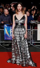 Actor Mia Goth arrives at the UK Premiere of Suspiria during the London Film Festival, in London