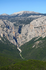 The Su Gorropu gorge is one of the deepest gorges in Europe, Sardinia, Italy