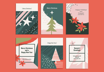 Christmas Card Layout Set