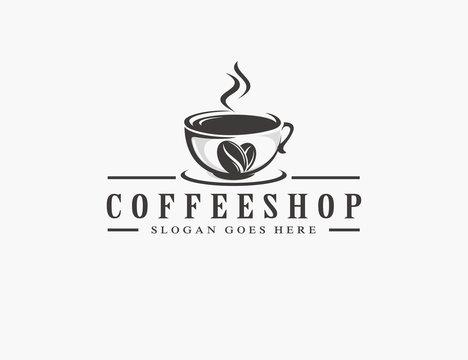 Coffee, coffee shop logo template