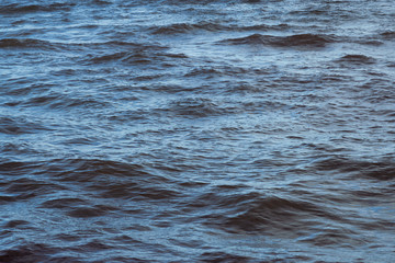 Water surface with little waves