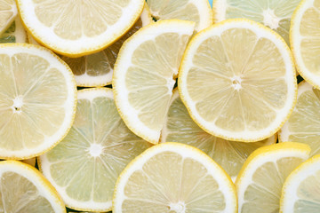 Pieces of lemon fruit background