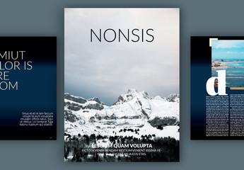 Modernes Digitalzeitschriften-Layout