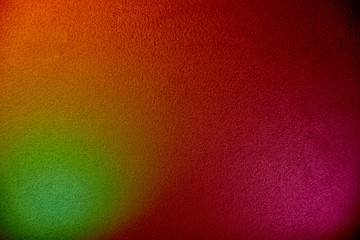 Pink, red and green color on one background.