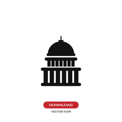 Capitol building vector icon