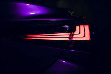 Rear stop light of modern car with led.