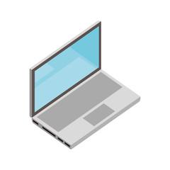 laptop device digital on white background