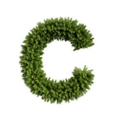 Christmas tree letter C