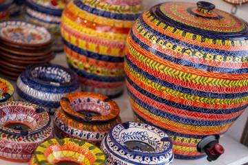 Souvenir ceramic clay pots