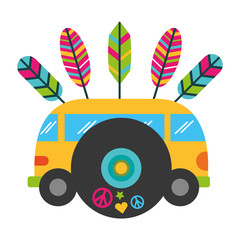 mini van music vinyl vintage hippie