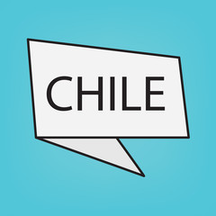 Chile word on a sticker- vector illustration
