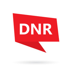 DNR (Do Not Resuscitate) acronym on a speach bubble- vector illustration