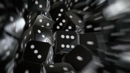 dice background 3d illustration
