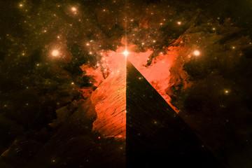 Illuminati Pyramid and the Orion's Belt fine art