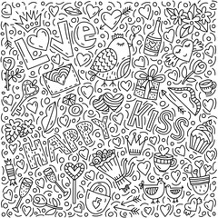 Conceptual illustration on the love theme