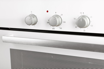 Modern electric oven, closeup view. Kitchen appliance