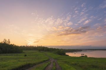 Enjoy life, beautiful pastoral scenery