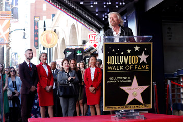Branson speaks before unveiling his star on the Hollywood Walk of Fame in Los Angeles