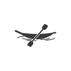Canoe vector icon