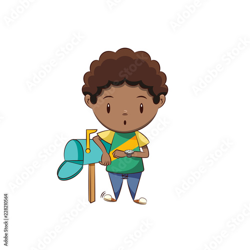 Waiting For Mail >> Boy Waiting Mail Stock Image And Royalty Free Vector Files On