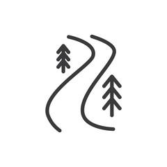River trail vector icon