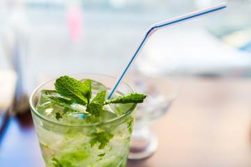 Closeup of Mint Cocktail