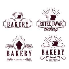 Bakery Logo, Badges, labels