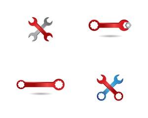 Wrench symbol illustration