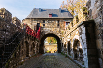 Foto auf Leinwand Befestigung medieval Ponttor in Aachen, Germany