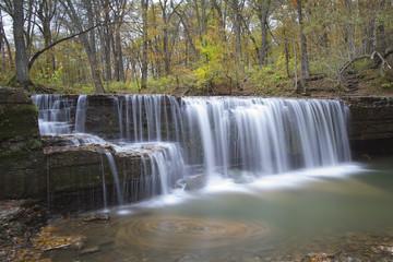 waterfall in Minnesota forest