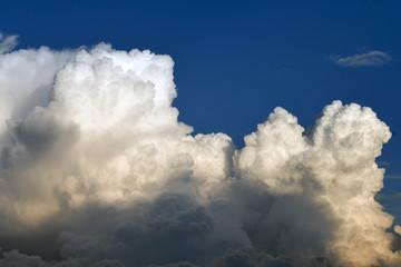 Cloud on the blue sky.