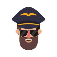 head of man pilot avatar character