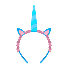 Isolated unicorn headband icon. Vector illustration design