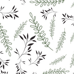 beautiful leafs pattern background isolated icon