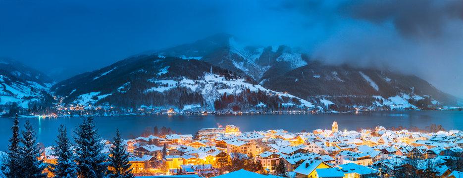 Zell am See in winter, Salzburger Land, Austria
