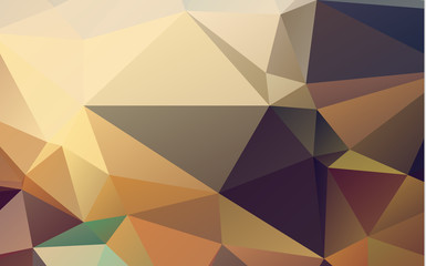 Abstract Dark brown triangle mosaic background. Creative geometric illustration in Origami style with gradient. The template can be used as a background for cell phones.