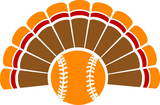 Thanksgiving Turkey Baseball