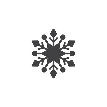 Snowflake vector icon. filled flat sign for mobile concept and web design. Snow winter solid icon. Symbol, logo illustration. Pixel perfect vector graphics